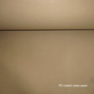 PE coated crepe papir
